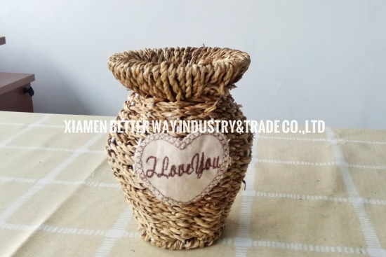 dried flowers iron vase