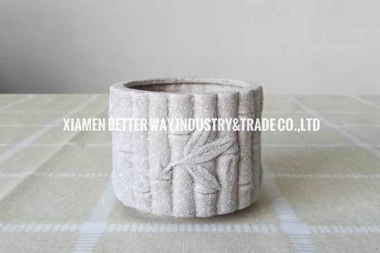 grey ceramic planter